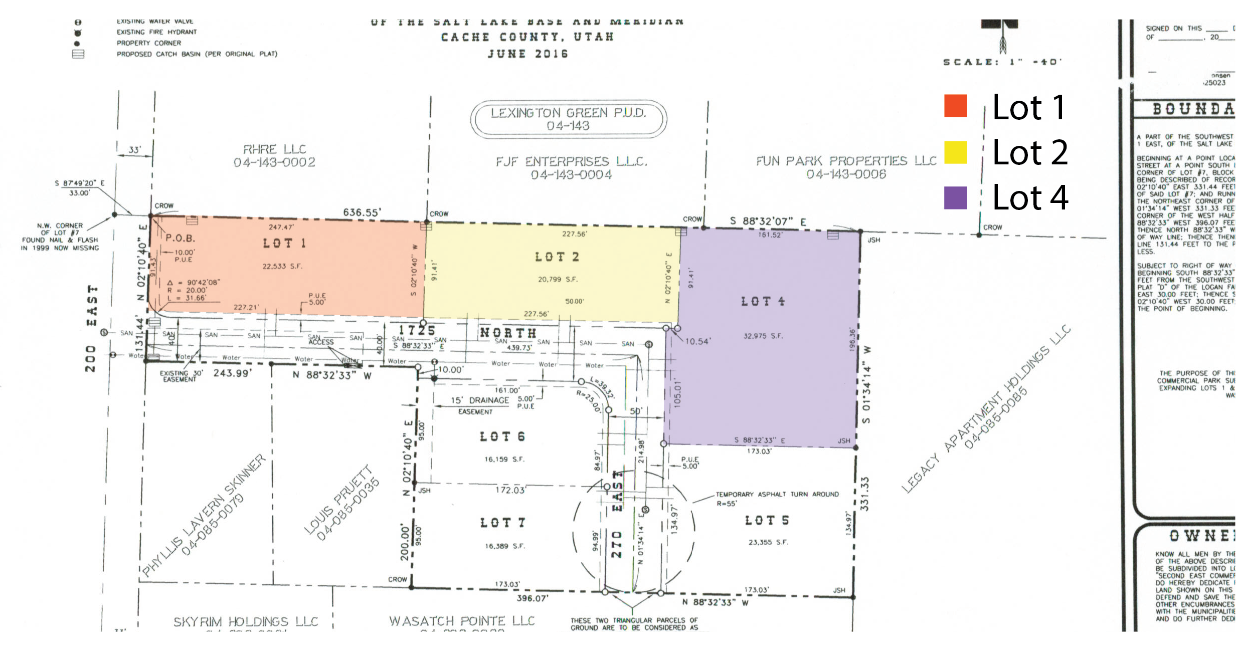 Second East Commercial Lots
